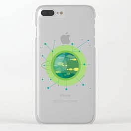Planet G - Trappist System Clear iPhone Case