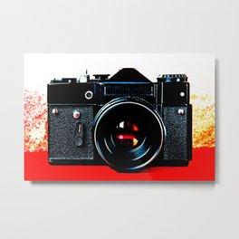 Old retro vintage slr camera Metal Print
