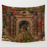 princess Wall Tapestries featuring princess by karens designs