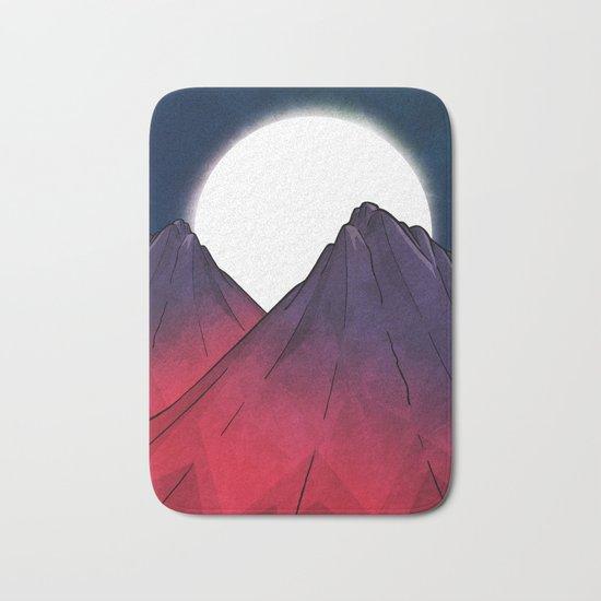 Midnight Mountains Bath Mat