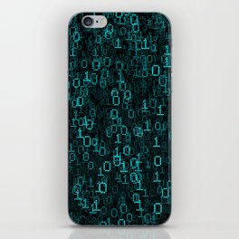 Binary Data Cloud iPhone Skin