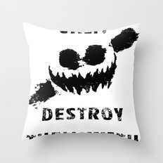 Keep Calm and Destroy Them With Lazers Throw Pillow