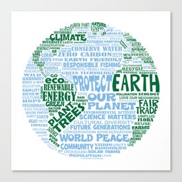 Protect Earth Word Bubble Canvas Print