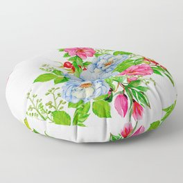 Vintage Floral Pattern No. 7 Floor Pillow