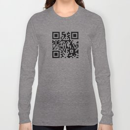 QR CODE BLACK Long Sleeve T-shirt