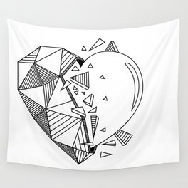 Geometrical Heart Wall Tapestry