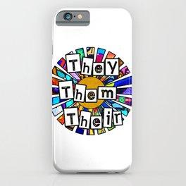 They Them Their Graffiti Sunrays iPhone Case