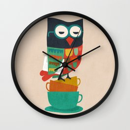 Morning Owl Wall Clock
