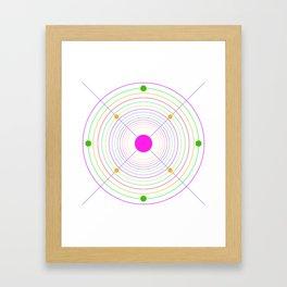 Clock canevas Framed Art Print