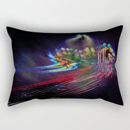 Walking the Roads Alone Rectangular Pillow