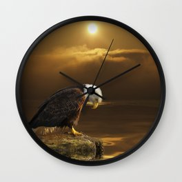 Gratitude - Bald Eagle At Prayer Wall Clock