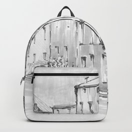 Monochrome Sketch City Backpack
