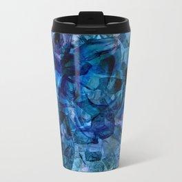 Blue Chrystal Ice Abstract Travel Mug
