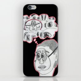 with your eyes closed iPhone Skin