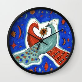 The Lovers (two peacocks) Wall Clock