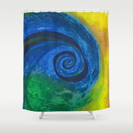 Abstract Poetic Shower Curtain