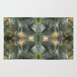 Leafy gray Rug