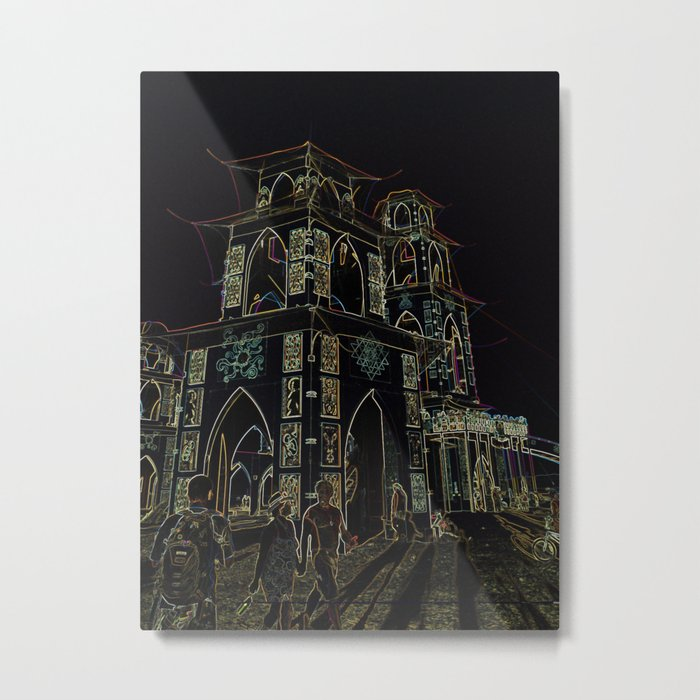Temple Energy Metal Print