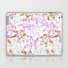 Aztec Sunrise Floral - White Laptop & iPad Skin
