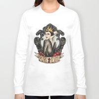 evil queen Long Sleeve T-shirts featuring Evil Queen by Juu Monteiro