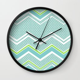 Ric-Rac-Dotty Blue And Lime Wall Clock