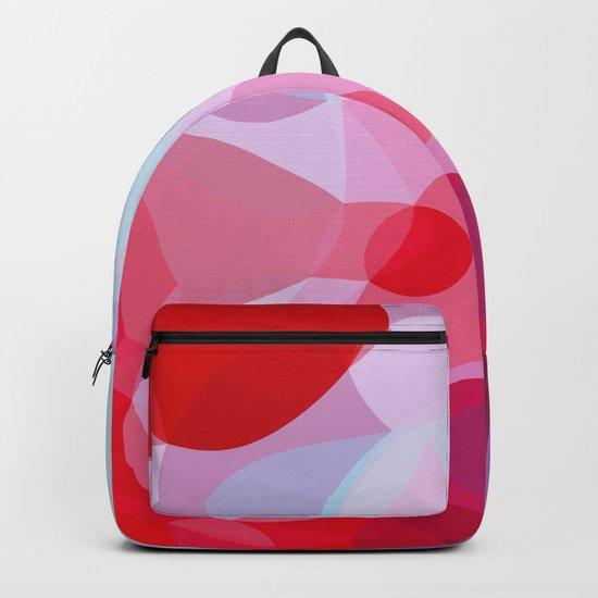 Bubbly Geometry - Red, Pink and Blue Backpack