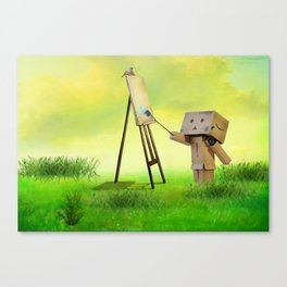 Danbo the artist Canvas Print