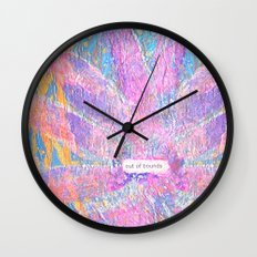Out of Bounds Wall Clock