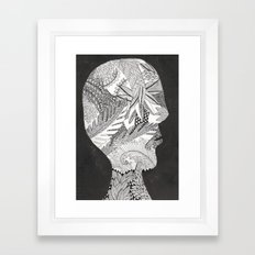 my gardens and me Framed Art Print