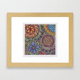 A Mess of Flowers Framed Art Print