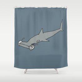 4-Eyed Hammerhead Shark Week Shower Curtain