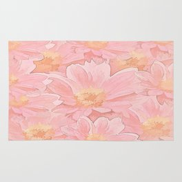 Pretty In Pink Painterly Floral Rug