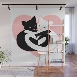 Balanced Feline Love Wall Mural