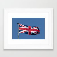 british flag Framed Art Prints featuring Flying the British flag by PICSL8