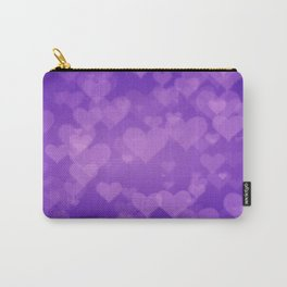 Soft Purple Hearts On Graduated Background. Valentines Day Concept Carry-All Pouch