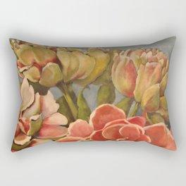 Peonies in Pink Rectangular Pillow