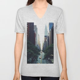 New York City Street Skyscapers Travel Wanderlust #tapestry Unisex V-Neck