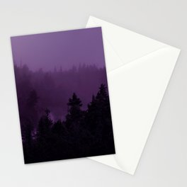 Purple Fog Stationery Cards