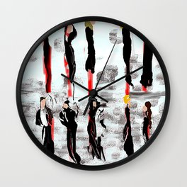 Wear Black Wall Clock