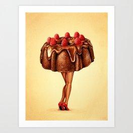 Cake Girl - Bundt Art Print