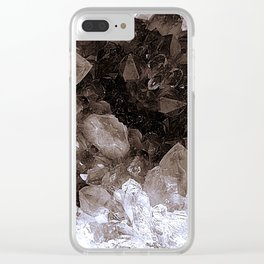 Smoky Quartz Crystal Abstract Clear iPhone Case