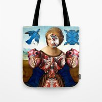 madonna Tote Bags featuring Madonna by DIVIDUS