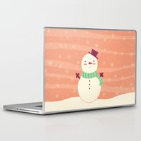 snowman Laptop & iPad Skins featuring Snowman by Claire Lordon