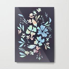 floral blues Metal Print