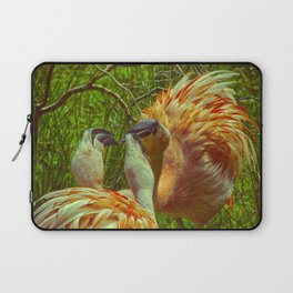 Fighting Flamingos Laptop Sleeve