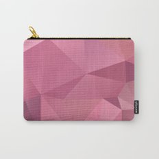 Abstract triangles polygon in soft pink rose colors Carry-All Pouch