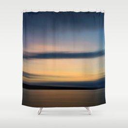 sunset make happiness Shower Curtain