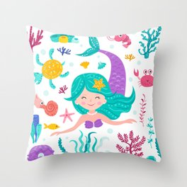 deep in the sea Throw Pillow