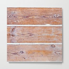 Wooden boards Metal Print