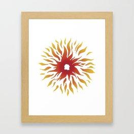 Circle of fire Framed Art Print